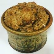 vegan muffins in a bowl