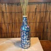 Mirrored Mosaic Flower Vase - finished bottle