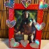 Valentine's Day Picture Frame - man's photo in the finished frame