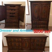 Value of an Owosso 790-19 Dresser and Armoire