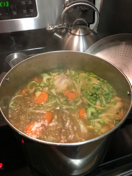 veggies in Chicken Soup