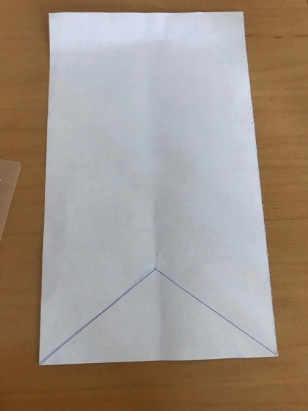 Valentine's Day Hanging Flag Banner - draw a triangle on the back