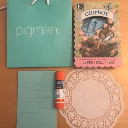 Monogram Gift Bag - supplies