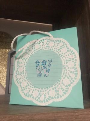 Monogram Gift Bag - finished bag