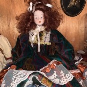 Identifying a Porcelain Doll - doll with curly auburn hair