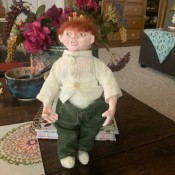 Identifying a Porcelain or Clay Doll - doll with red hair and freckles