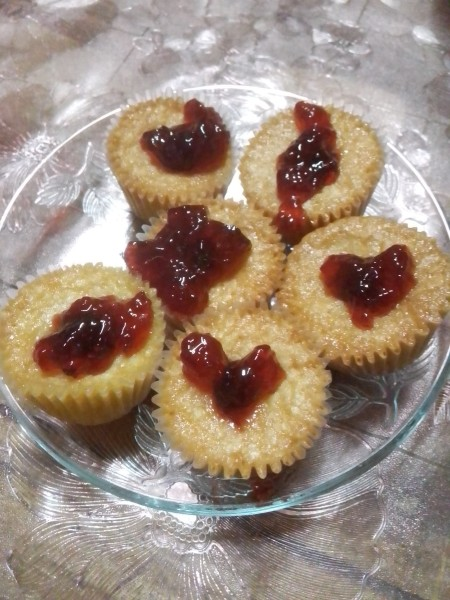 Raspberry Jelly Filled Butter Cupcakes