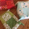 Keepsake Fabric Boxes - the bottom side showing the patchwork
