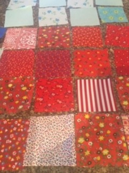 Keepsake Fabric Boxes - various print red squares of fabric