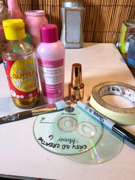 Golden Butterfly Suncatcher - supplies