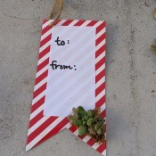 Succulent Gift Tag - closeup of finished tag