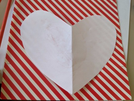 Paper Heart Display - cut out heart shapes from paper