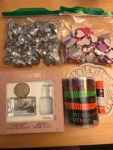 Valentine's Day Candy & Gift Box - supplies