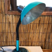 Refurbishing An Old Lamp - finished desk style lamp