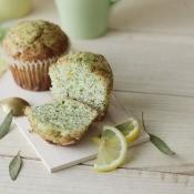 A lemon poppy seed muffin.