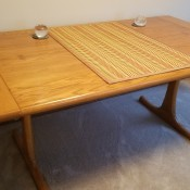 Value of a Conant Ball Dining -Room Table  - modern design oak table