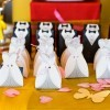 Wedding Dress and Tux shaped Favor bags.