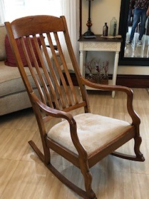 Age of a Murphy Rocking Chair - high back wooden rocker