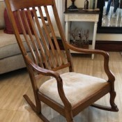 Age of a Murphy Rocking Chair - high back wooden rocker