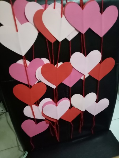 Heart Banner as Wall Decor - multiple hanging heart banners