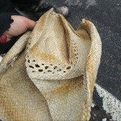 Fixing a Crushed Straw Cowboy Hat - smashed hat