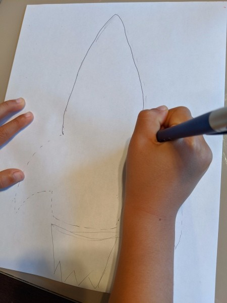 Paper Mosaic Art for Kids - creating drawing