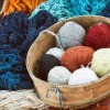 Yarn to be used in a hand loom.