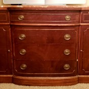 Refinishing a Dresser and Retaining Its Value - marble topped vintage dresser