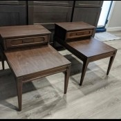 Value of Mersman End Tables - two stepped end tables