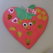 Giant Strawberry Valentine's Day Card - ready to give to recipient
