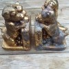 Cleaning Brass - dog bookends