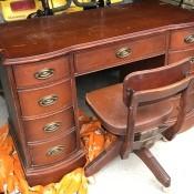 Value and Information on a Vintage Bassett Desk - 9 drawer desk