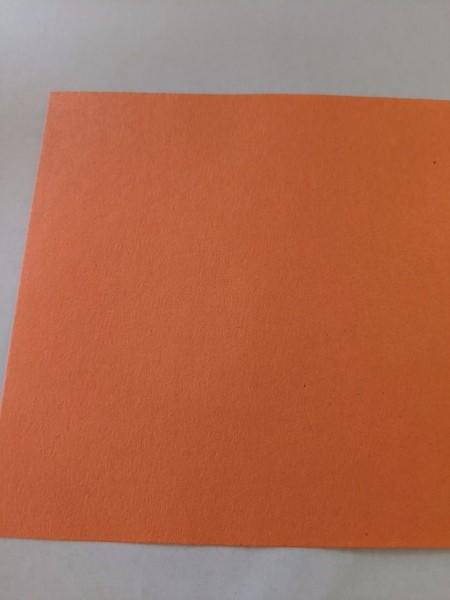 Valentine's Day Spider Card - square of orange construction paper