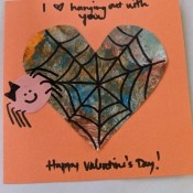 Valentine's Day Spider Card - finished card