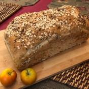 Chia Sunflower Bread on wooden board