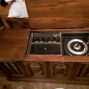 Value of a Philco Console Stereo - top open on a console stereo and radio unit