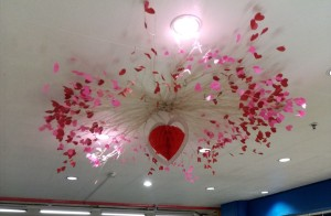 Valentine Ceiling Decor - pretty decorative hanging Valentine's Day decoration