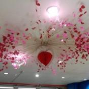 Valentine Ceiling Decor - pretty decorative hanging Valentine's Day decoration