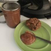 Apple Butter in jar & on plate