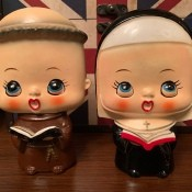 Identifying Thriftstore Figurines - monk and nun figurines