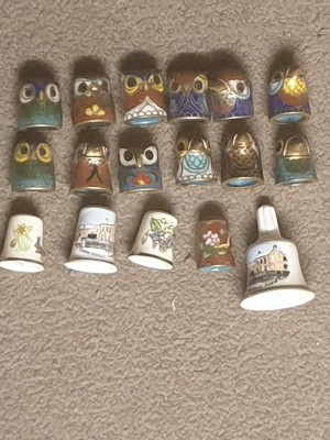 Value of Collectible Thimbles - a variety of ceramic thimbles
