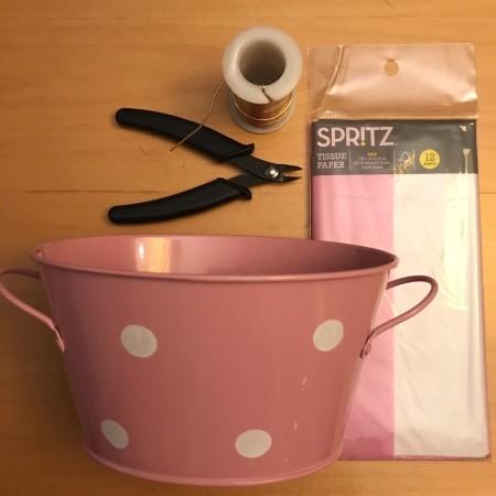 Tin Tub Easter Basket - supplies