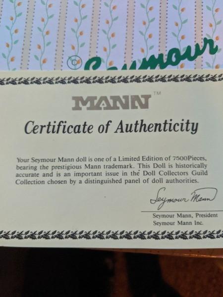 Value of a Seymour Mann Doll