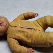 Rubber on a Vintage Doll Is Breaking Down - old doll