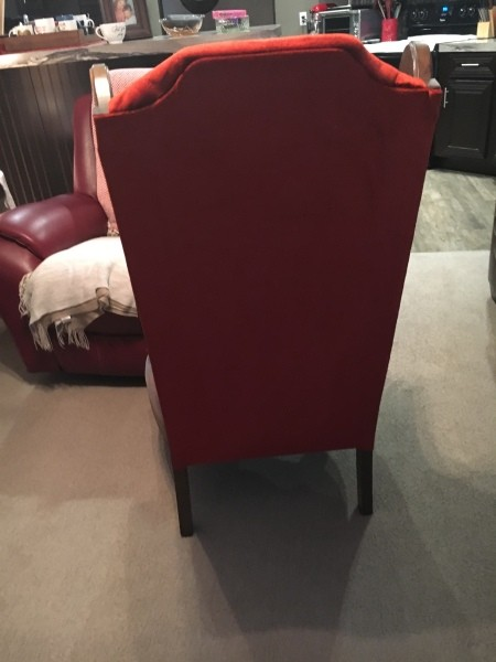 Identifying an Old Upholstered Wingback Chair with Cane Sides