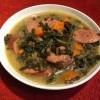 bowl of Kale and Sausage Lentil Soup