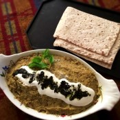 Lamb and Eggplant Dip with crackers