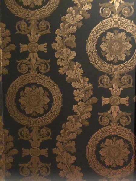 Raymond Waites Villa Classic Discontinued Wallpaper - black and gold wallpaper
