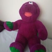 Identifying a Purple Stuffed Toy Monster