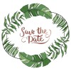Save-The-Date with leaves.